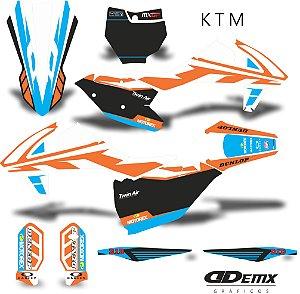 Kit Adesivo 3M ktm Blue Factory S/ Capa de banco