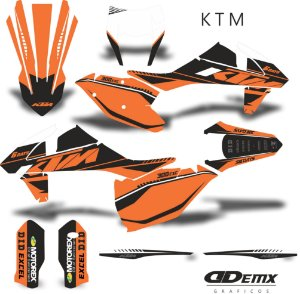 Kit Adesivo 3M ktm HERO ORANGE S/ Capa de banco