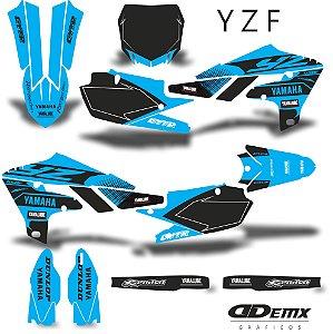 Kit Adesivo 3M  YAMAHA CRACK BLUE Full