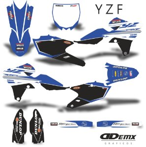 Kit Adesivo 3M  YAMAHA DIVIDE AQUA Full Graphics Kit S/ Capa de banco