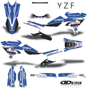 Kit Adesivo 3M  YAMAHA CYAN Full Graphics Kit S/ Capa de banco