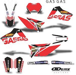 Kit Adesivo 3M  GAS GAS factory Full S/ Capa de banco