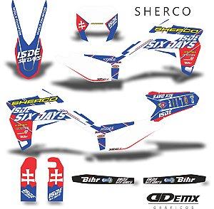 Kit Adesivo 3M Sherco  six day Full S/ Capa de banco