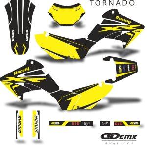 Kit Adesivo 3M tornado RACEWAY  HONDA S/ Capa de banco