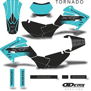 Kit Adesivo 3M tornado RUST HONDA BLUE S/ Capa de banco