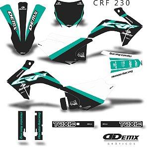 Kit Adesivo 3M Moto Rex Crf 230 S/ Capa de banco