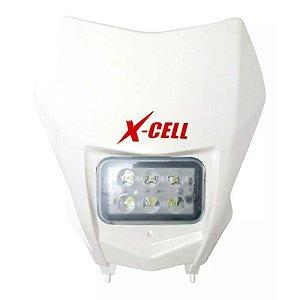 FAROL DE LED X-CELL + CARENAGEM CRF 230 BRANCO