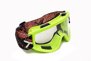 Óculos Transparente Mattos Racing Verde Fluor