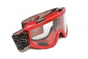 Óculos Transparente Mattos Racing Vermelho