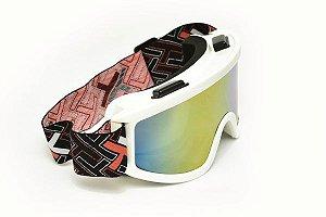 Óculos Espelhado Mattos Racing Branco