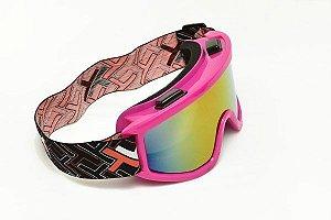 Óculos espelhado Mattos Racing Rosa