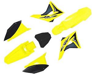 kit Plastico biker Next CRF 230 Amarelo neon (2008/2009)