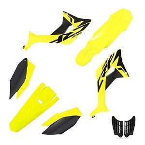 kit plastico crf 250f Biker evo Amarelo e Preto