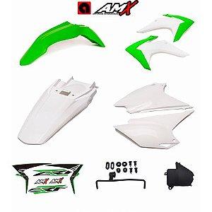 Kit plastico amx crf 230 Verde/Branco