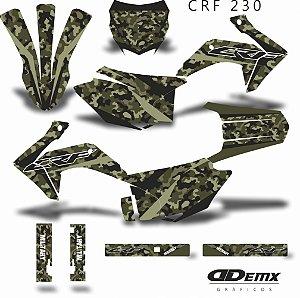 Kit Adesivo 3M KIT SEELY ARMY  CRF 230