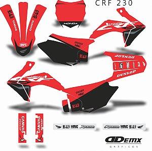 Kit Adesivo 3M HONDA INK CROSS CRF 230