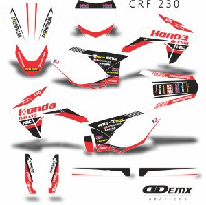 Kit Adesivo 3M - KIT HONDA RACING LINE RED CRF 230