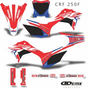 Kit Adesivo 3M HONDA FOX Crf 250F 2019