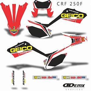 Kit Adesivo 3M GEICO TEAM Crf 250F 2019