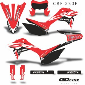 Kit Adesivo 3M  HRC GDR RED Crf 250F 2019​