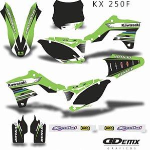 Kit Adesivo 3M BLACK GREEN STYLE Kxf 250