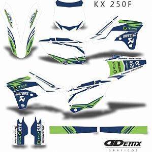 Kit Adesivo 3M LIGHTNING BOLT GREEN Kxf 250