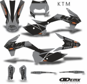 Kit Adesivo 3M ktm  DEADLY CHARG