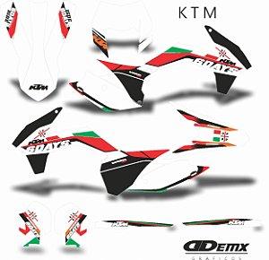Kit Adesivo 3M ktm SIX DAYS ITALY