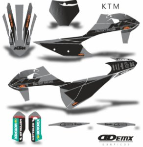 Kit Adesivo 3M ktm DEADLY CHARGE