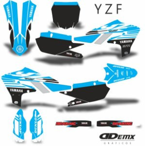 Kit Adesivo 3M YZF LIGHT BLUE