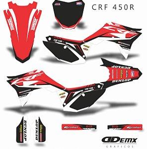 Kit Adesivo 3M Honda DECALS RED BLACK Crf 250/450R