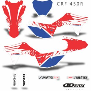 Kit Adesivo 3M Honda BRUSCH Crf 250/450R