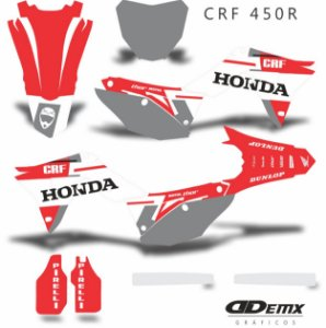 Kit Adesivo 3M  HONDA SKDRACING Crf 250/450R
