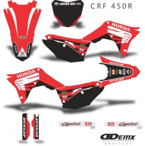 Kit Adesivo 3M  HONDA WING RED Crf 250/450R