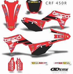 Kit Adesivo 3M Honda GEICO CLEAN Crf 250/450R