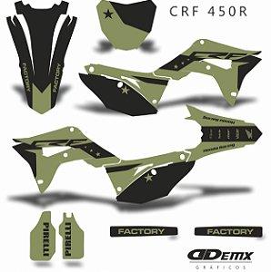 Kit Adesivo 3M Honda MILITAR  CROSS Crf 250/450R