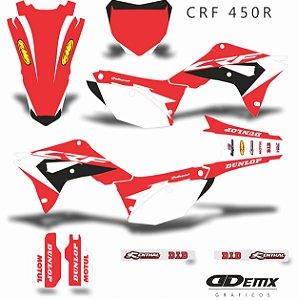 Kit Adesivo 3M HONDA  FMF RED Crf 250/450R