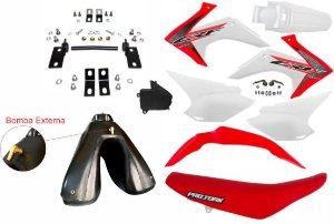 Kit Crf 230 2018 Top Avtec Adaptável Xre 300 + Ferragens