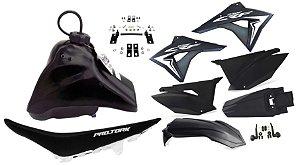 Kit Plastico Elite Biker Crf 230 Adaptável Xr 200 Preto
