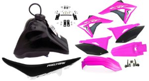 Kit Plastico Elite Biker Crf 230 Adaptável Xr 200 Rosa