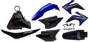 Kit Plastico Crf 230 2018 Avtec Adaptável Tornado Azul-preto