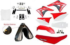 Kit Elite Biker Crf 230 Adaptável Xre 300 + Ferragens Tanque