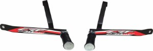 Suporte De Pedaleira Traseira Crf 230 - Fácil Instalação - Vermelho