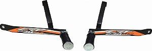 Suporte De Pedaleira Traseira Crf 230 - Fácil Instalação - Laranja