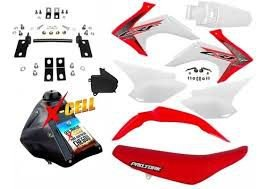 Kit Crf 230 2018 Top Amx Adaptável Xr 200 + Ferragens
