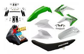 Kit Crf 230 2018 Avtec Verde Adaptável Xr 200 + Ferragens
