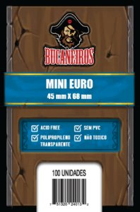 Sleeves Mini Euro (45 mm x 68 mm) - Bucaneiros