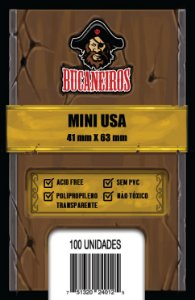Sleeves Mini USA (41 mm x 63 mm) - Bucaneiros