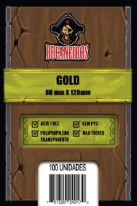 Sleeves Gold (80 mm x 120 mm) - Bucaneiros