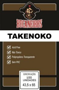 Sleeves Takenoko (43,5mm x  65mm) - Bucaneiros